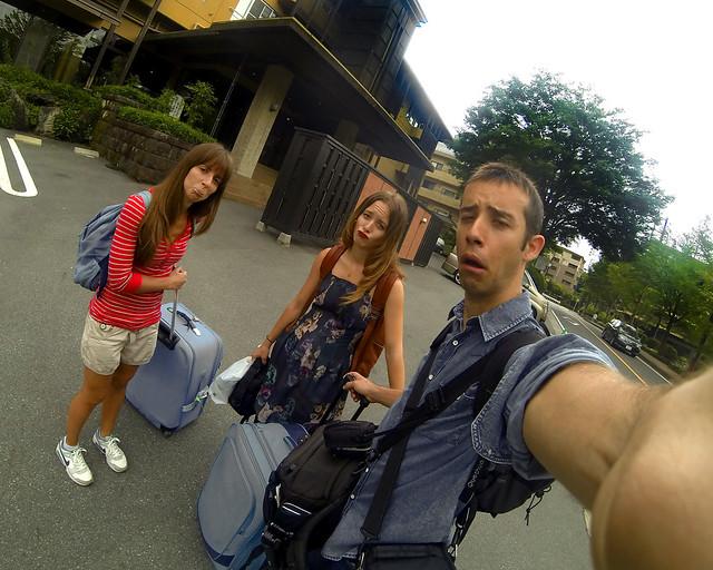 Súper tristes por abandonar el Ryokan en Hakone donde estuvimos 2 días