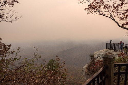 View of fire from Caesars Head - 8