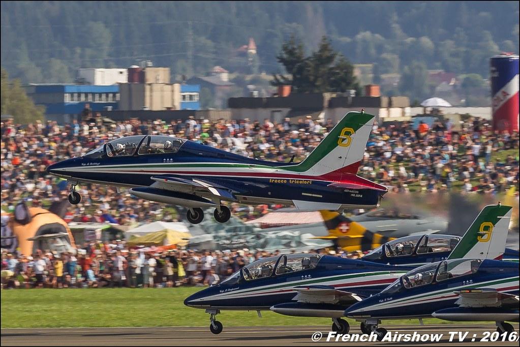 Frecce Tricolori , patrouille acrobatique italienne , Aermacchi MB-339 PAN ,airpower zeltweg 2016 , AIRPOWER16 - Österreichs Airshow , Steiermark , Austria, Canon Reflex , EOS System