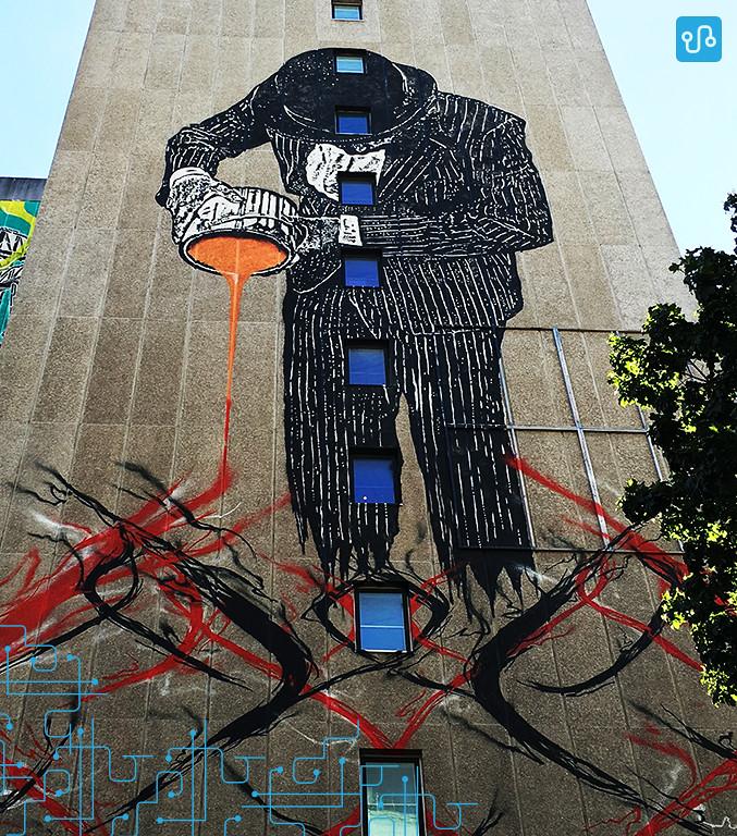 Outra street art da cidade