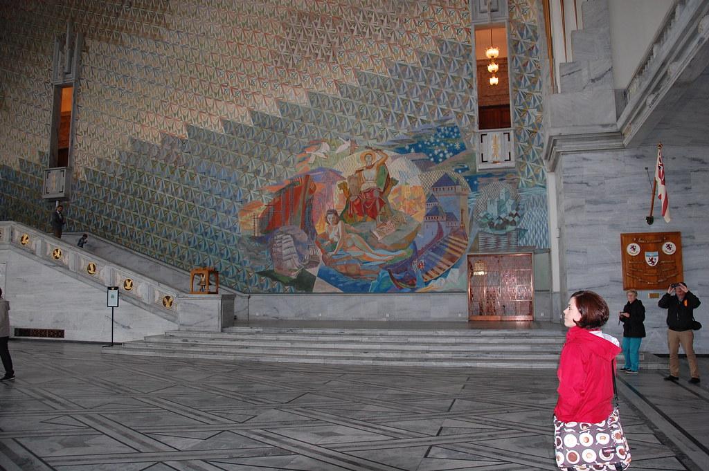 Interior ayuntamiento de Oslo