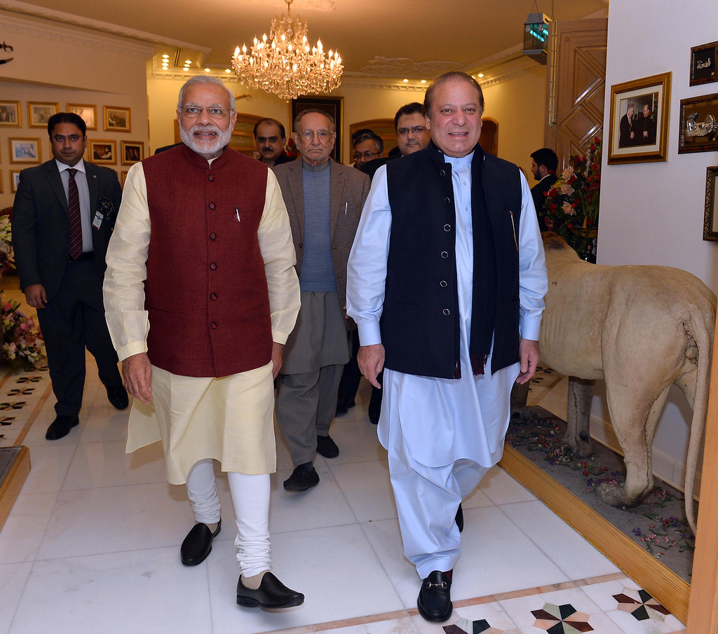 Narendra Modi during his surprise December 25, 2015 visit with Nawaz Sharif.