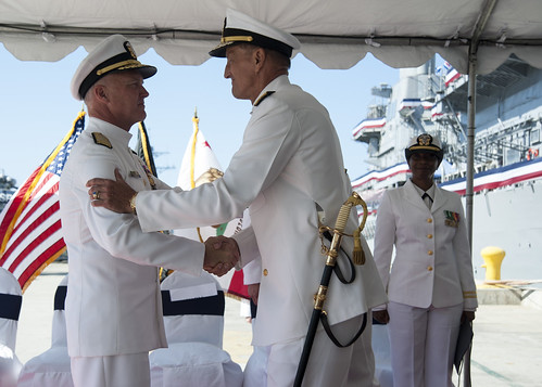 USS Cowpens Holds Cruiser Modernization Induction, Change of Command