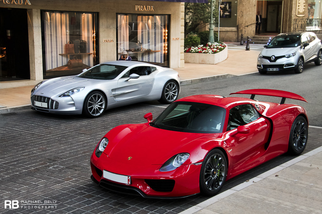 Porsche 918 Spyder & Aston Martin One-77 | Raphaël Belly | Flickr