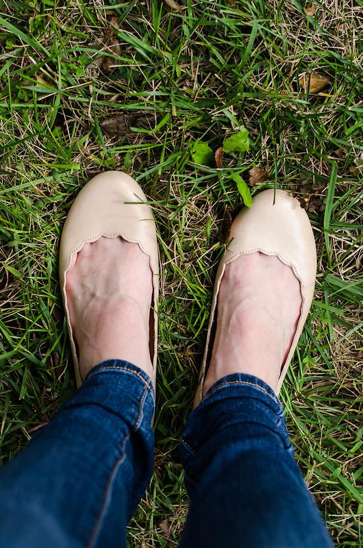 LC Lauren Conrad Scalloped Ballet Flats | cookingalamel.com