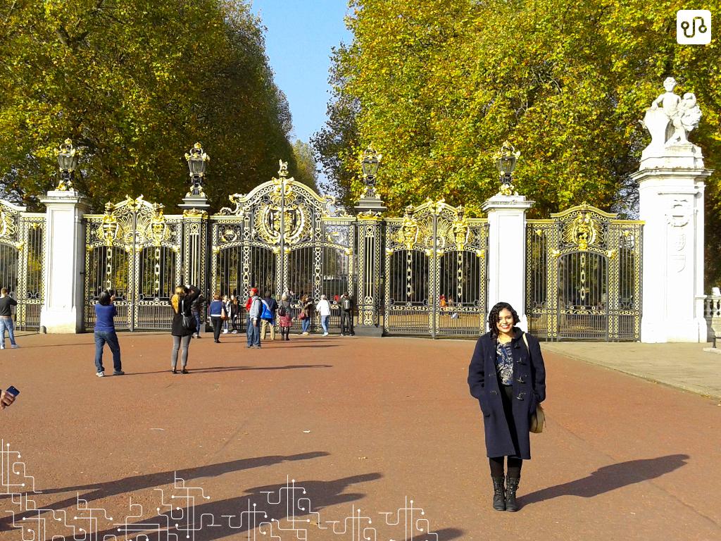 Igual um pinto no lixo no Palácio de Buckingham