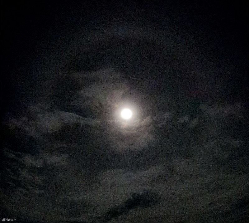 Halo around full moon
