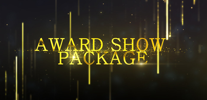 AE模版:高雅大气绚丽金色粒子颁奖典礼晚会片头开场包装 Awards Show Pack 13256511