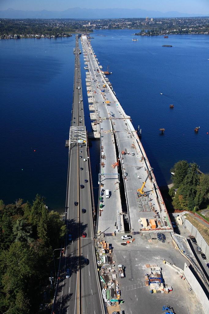 Sept 11 2015 Bridge Taking Shape On Lake Washington