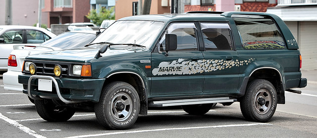 Mazda Proceed, this is the Marvie, a top of the line version of the SUV'd Mazda B-series pickup.