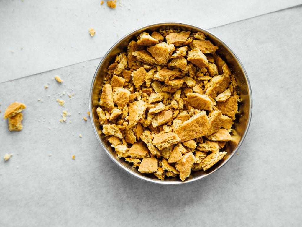 Crushed graham crackers