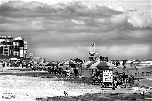 Black and White Image of Daytona Beach