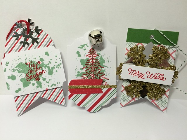Stampin Up Christmas tags by StickerKitten