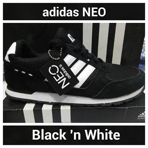 1e92610b18 ... denmark sepatu casual adidas neo black n white photo asli tanpa edit  kualitas 417b4 d22d2