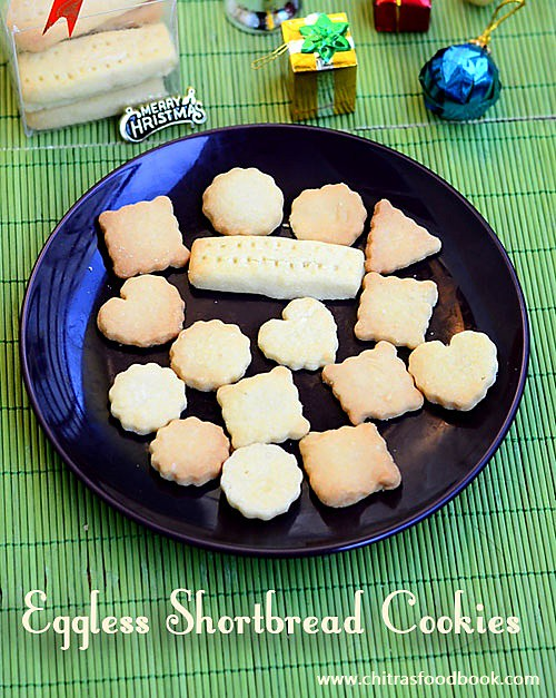eggless shortbread cookies recipe