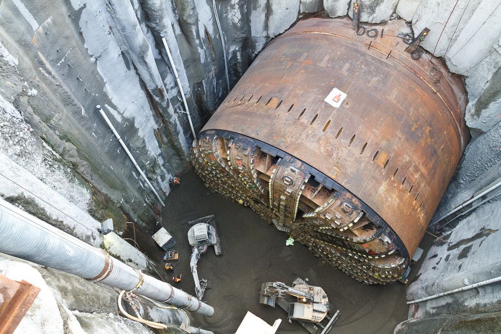 Filling The SR 99 Tunnel Access Pit In This Dec 14