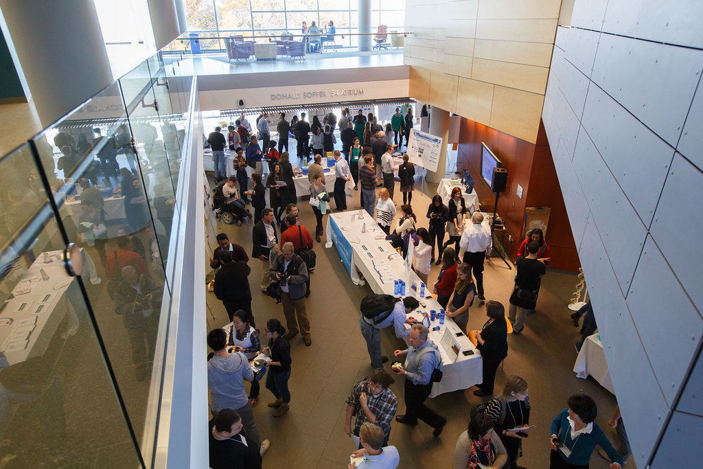 2015 Brandeis Innovation Showcase seen from above