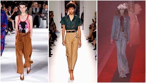 Pleated pants. Dari kiri ke kanan: Stella McCartney, Hermes, Gucci