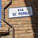 Bologna street sign