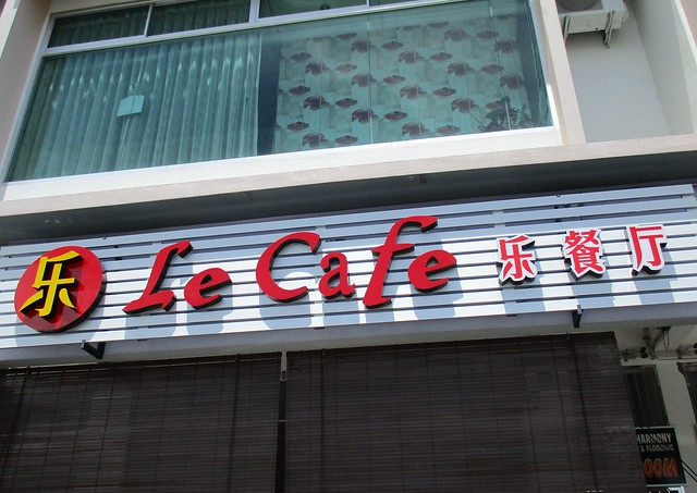 Le Cafe new sign