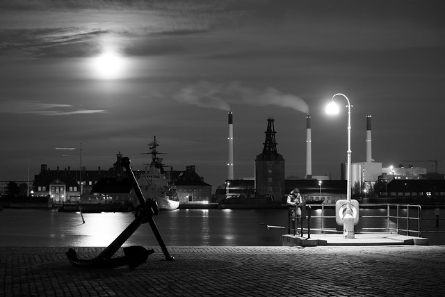 Copenhagen Beneath the Super Moon