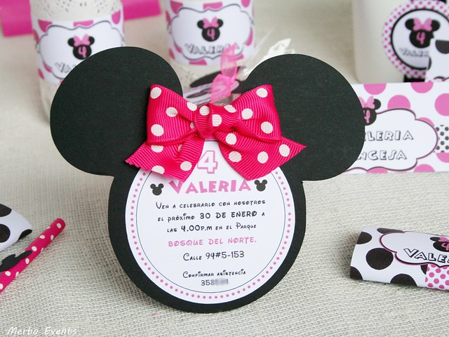 Invitaciones Cumpleaños Minnie Mouse Merbo Events