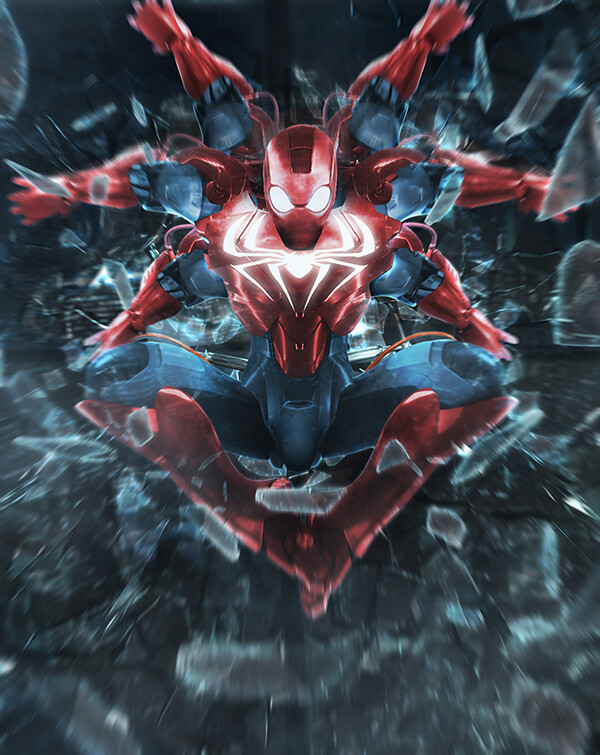 Iron MaSH! by Kode Logic - Iron Man / SpiderMan