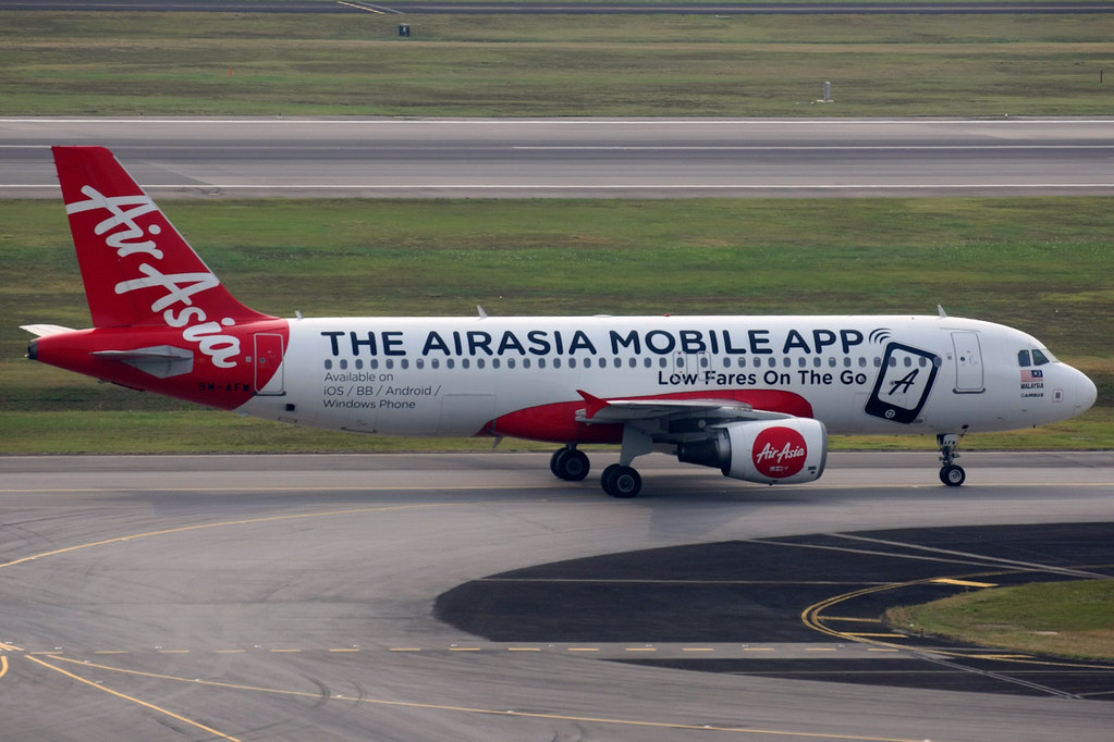 Airasia Airbus A320 200 9m Afw Airasia Mobile App Li