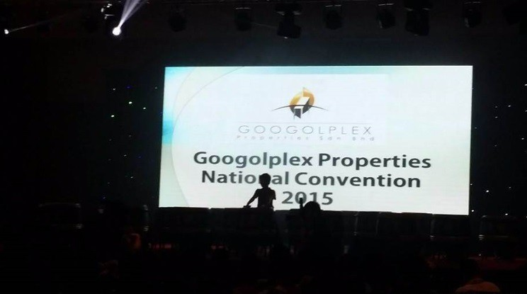 Inside the hall: Googolplex Properties National Convention 2015.