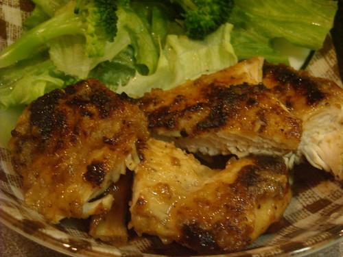 【男の料理】照り焼き風鶏むね肉:できた