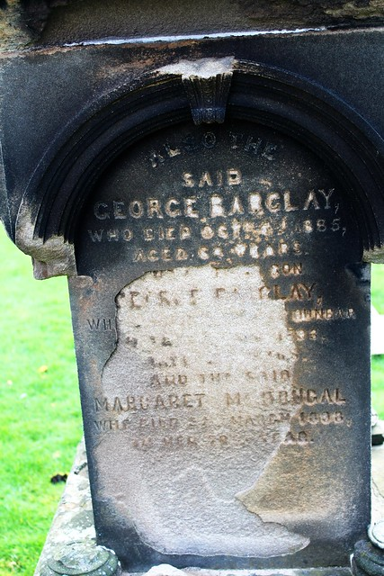 Barclay memorial at Oakshaw Trinity Church, Paisley, Scotland.
