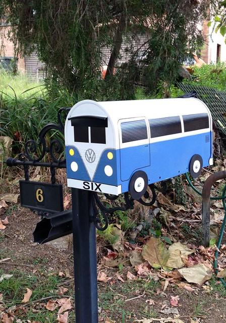 Custom Blue Mailbox by TheBusBox