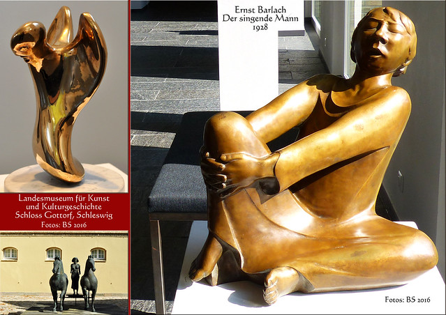 Landesmuseum für Kunst und Kulturgeschichte Schleswig ... Schloss Gottorf ... Galerie der Klassischen Moderne ... Norddeutsche Galerie ... Expressionismus ... Fotos und Collagen: Brigitte Stolle 2016