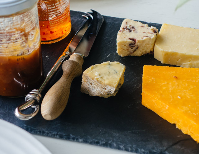 cheese and chutney selection