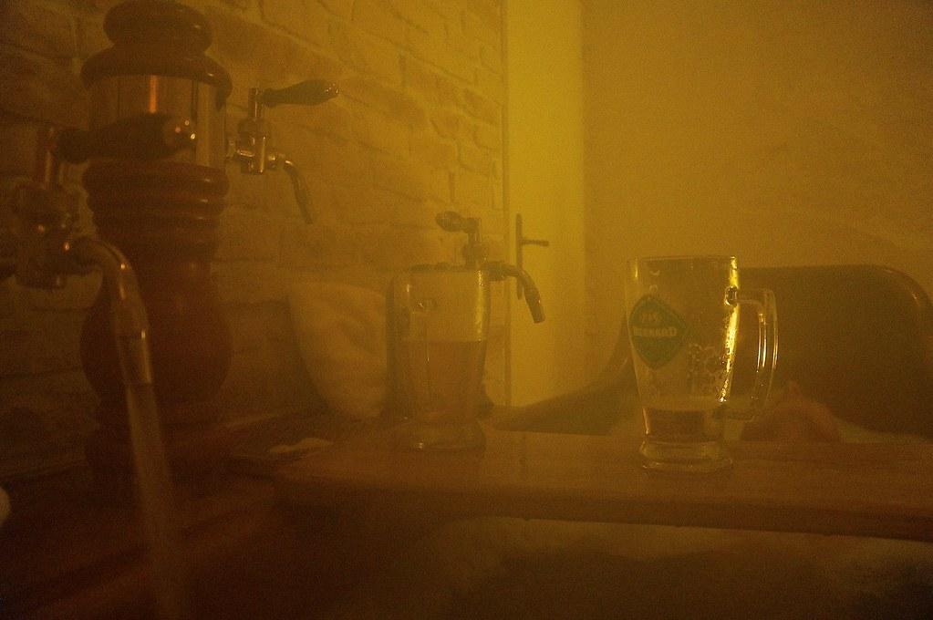 Bain à la bière