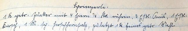 Springerle-Rezept handgeschrieben Bertas Kochbuch Rezeptsammlung 1908