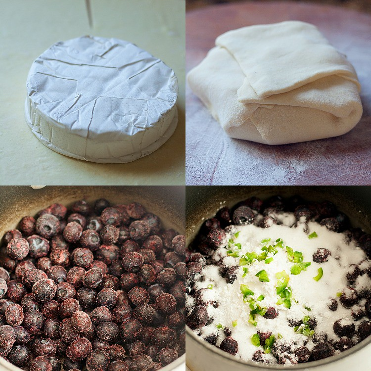 baked brie collage