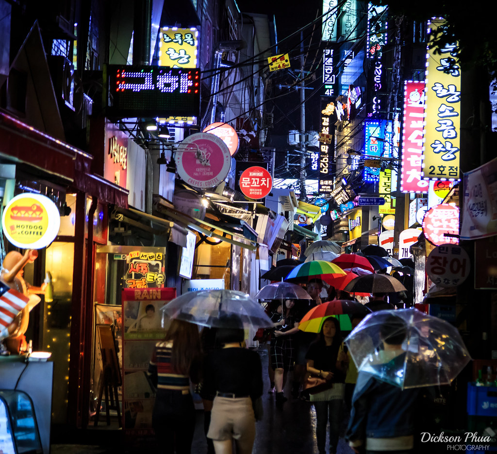 A rainy night in Hongdae - Trying to take night shots in Sou… - Flickr