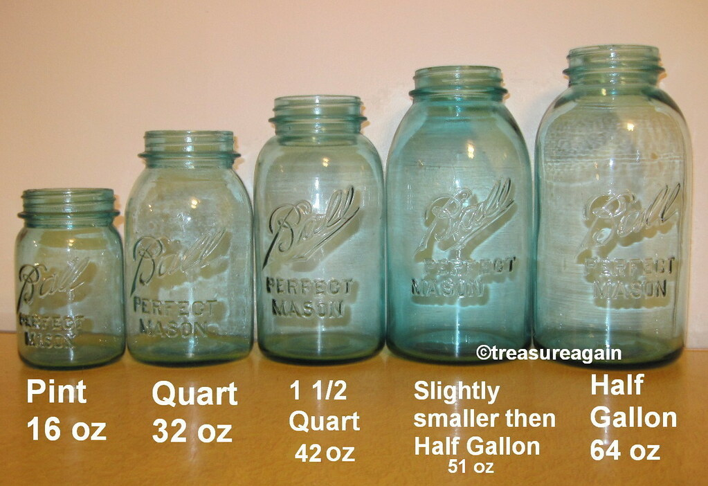 mason jar size comparison ball blue jars mason jar size. Black Bedroom Furniture Sets. Home Design Ideas