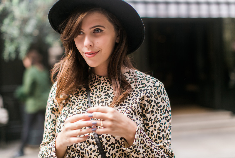 Retro leopard print dress