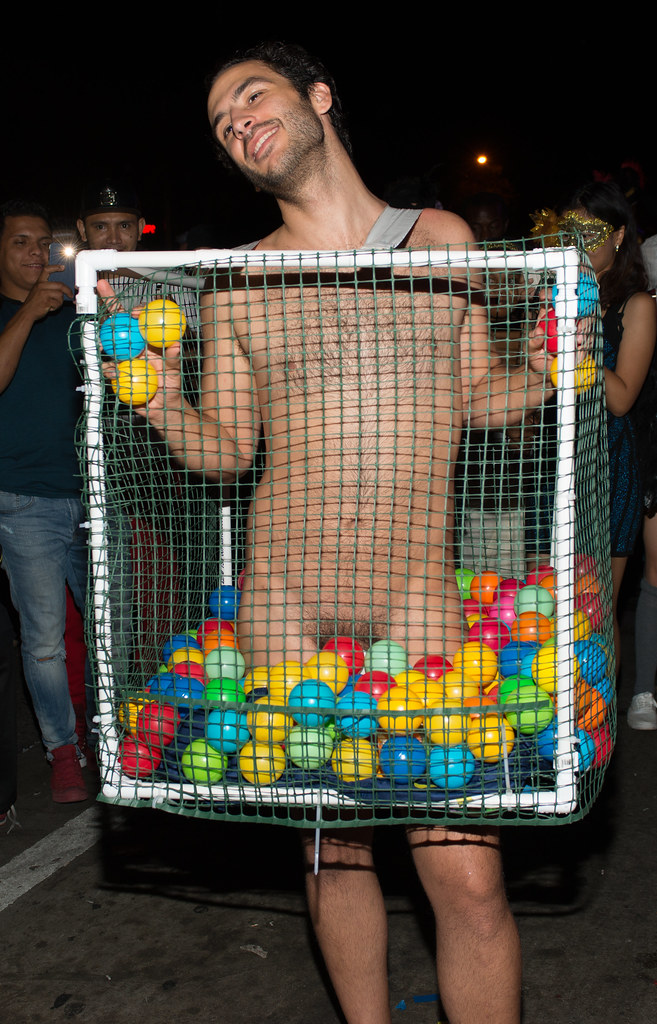 Naked Guy In Ball Pit Front Halloween West Hollywood 2015 -3990