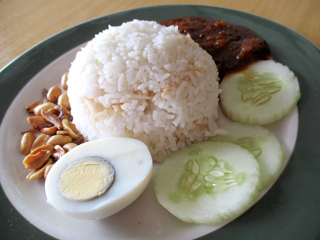 Colourful nasi lemak