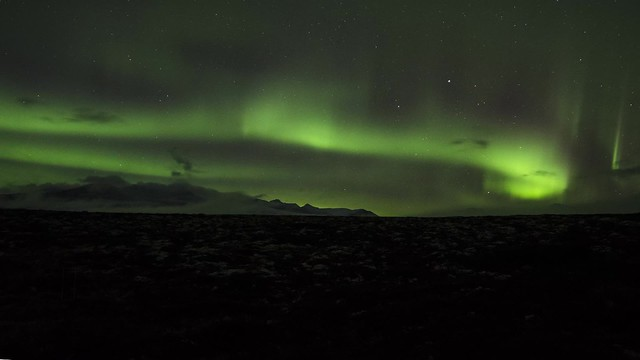 Northern lights time lapse over Rondane NP, Norway,