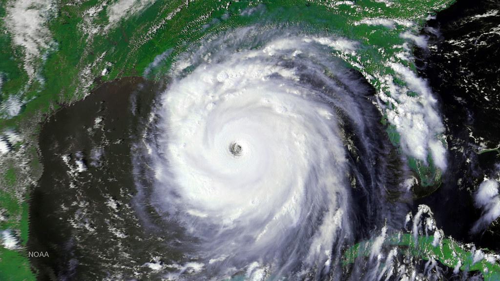 Spac0639 2005 Image Of Hurricane Katrina Captured By