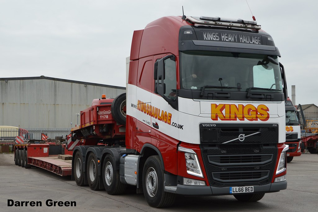 Kings Heavy Haulage Volvo Fh 8x4 540 Ll66 Bed First