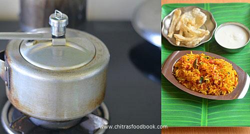 Thakkali sadam in pressure cooker