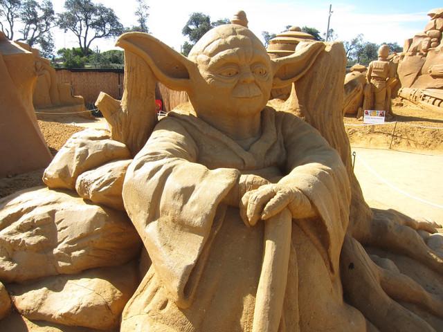Star Wars Yoda Sand Sculpture