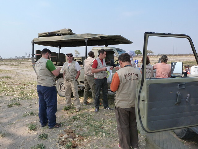 Un café durante el safari móvil con Mopane (Botswana)