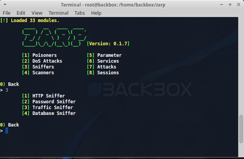 Zarp - Network Attack Tool