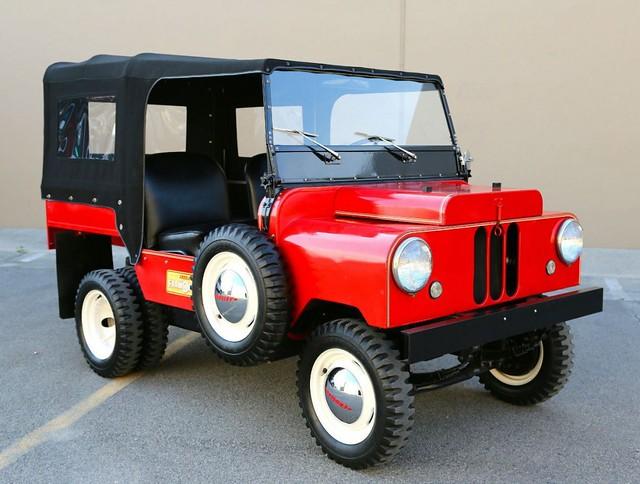 The Crosley Farm-o-road. Which looks mighty similar to the American Bantam design for the original Jeep. Remeber, this thing is MICRO sized,  I'm guessing those are around a 10